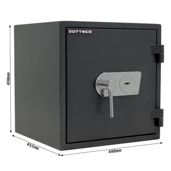 FireProfi50 Premium tűzálló páncélszekrény kulcsos zárral 490x480x445mm