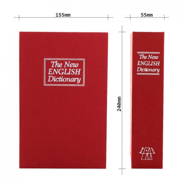 Bookcase könyv alakú értékkazetta kulcsos zárral 240x155x55mm
