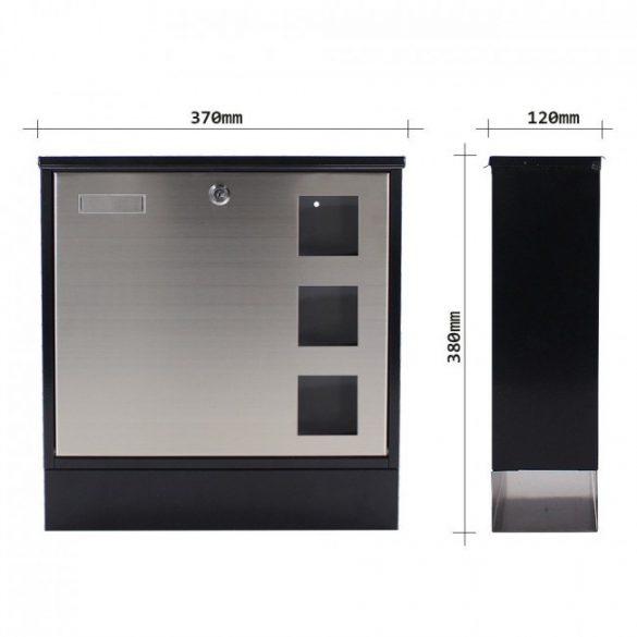 Design Mailbox Inox nemesacél postaláda 380x370x120mm