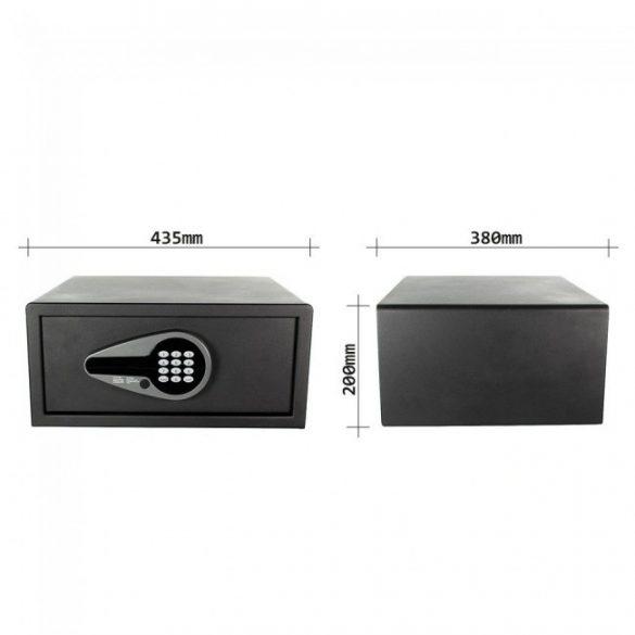 Solution Premium bútorszéf elektronikus zárral 200x435x380mm