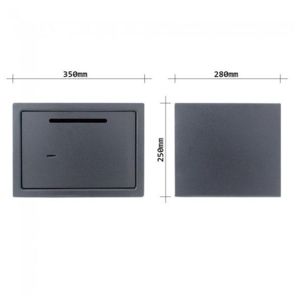 Saturn Le Slot bútorszéf bedobónyilásal és kulcsos zárral 250x350x280mm