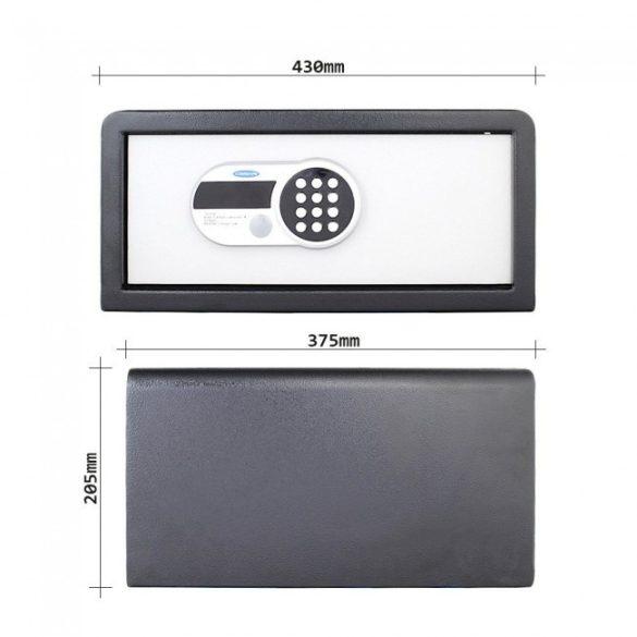 Traveller Safe Laptop széf elektronikus zárral 205x430x375mm