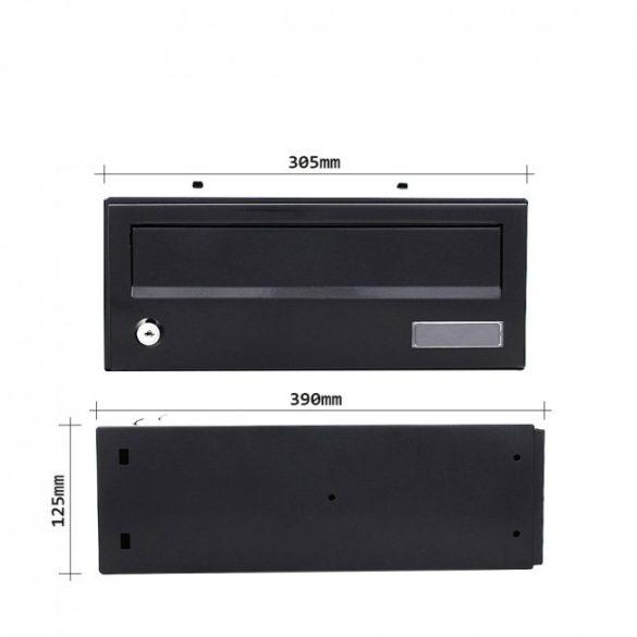 Euroletter tömbősíthető postaláda fekete színben 125x305x390mm