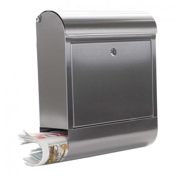Rondello Inox nemesacél postaláda újságtartóval 435x385x140mm