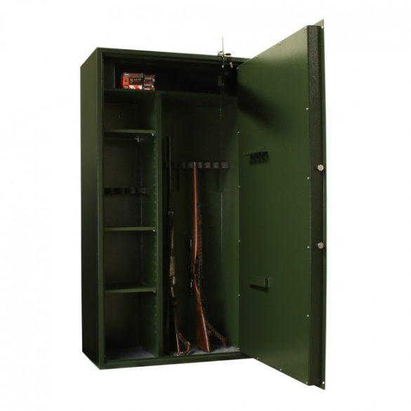 Montana10 fegyverszekrény kulcsos zárral 1500x800x400mm