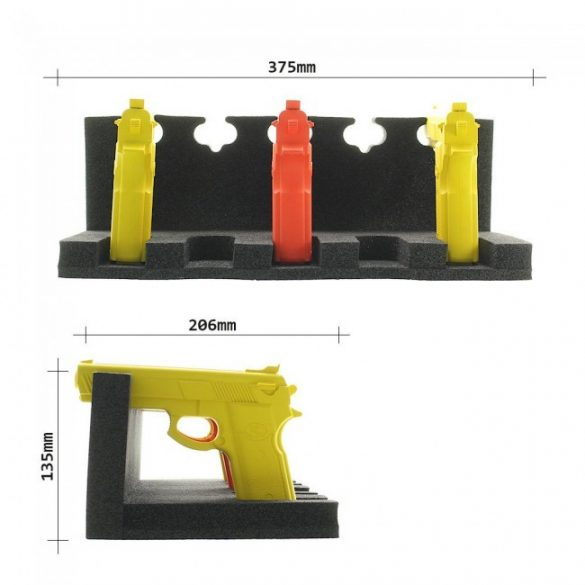 GunHolder habszivacs fegyver tartó 135x375x206mm