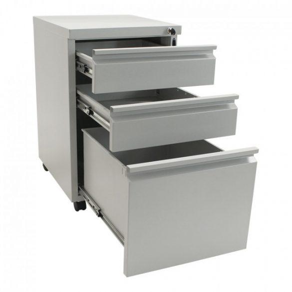 Vario RollContainer irattároló fiókos szekrény kulcsos zárral 640x381x483mm