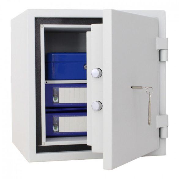 FireSafe40 betörésbiztos és tűzálló páncélszekrény kulcsos zárral 460x440x440mm