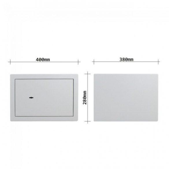 HomeStar-B300 széf kulcsos zárral 280x400x380mm