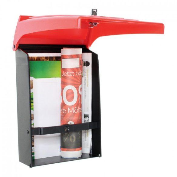 Rottner Posta műanyag postaláda kulcsos zárral piros színben 340x250x110mm