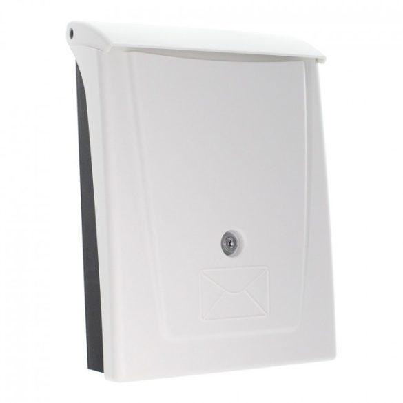 Rottner Posta műanyag postaláda kulcsos zárral fehér-fekete színben 340x250x110mm