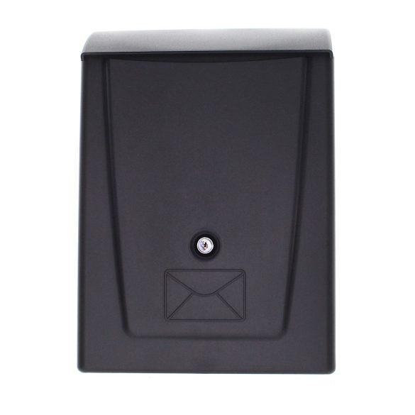 Rottner Posta műanyag postaláda kulcsos zárral fekete színben 340x250x110mm