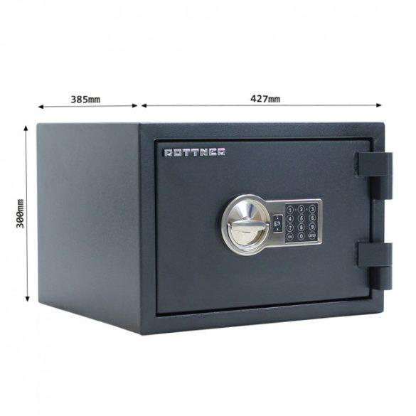 Rottner FireHero30 tűzálló és betörésbiztos páncélszekrény elektronikus zárral 300x427x385mm