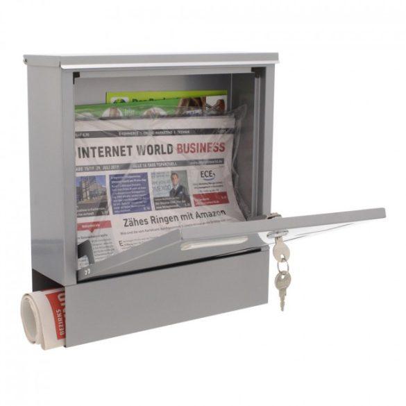 Lago postaláda újságtartóval ezüst színben 330x305x97mm