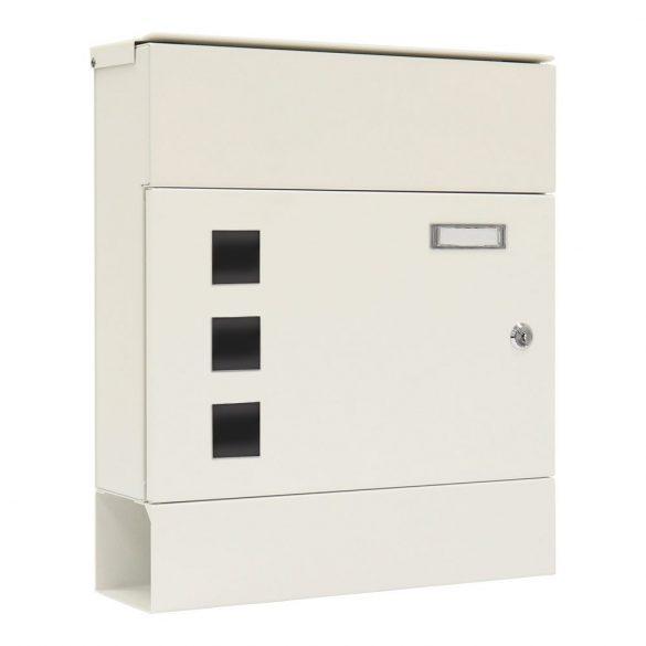 Globe postaláda fehér színben kulcsos zárral 425x365x110mm