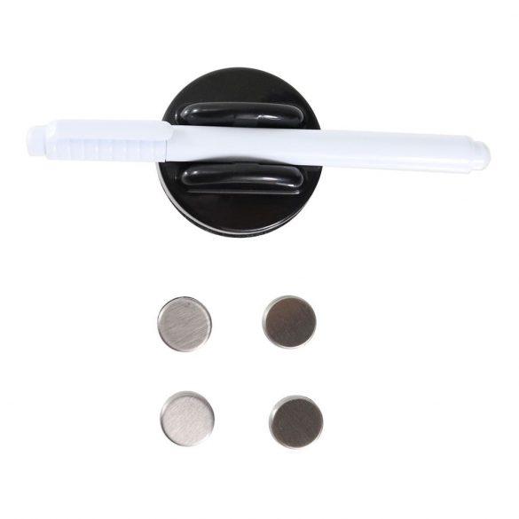 Key Glass Black ezüst-fekete kulcstároló üvegajtóval mágneses zárral 300x200x40mm