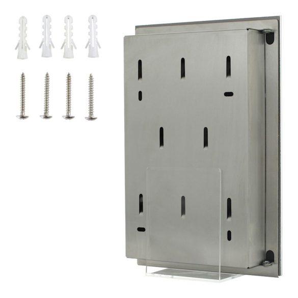 Key Glass White fehér kulcstároló üvegajtóval mágneses zárral 300x200x40mm