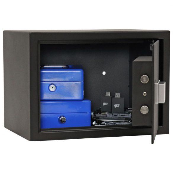 Rottner Fifty 2 bútorszéf Bluetooth zárral fekete színben 250x350x250mm