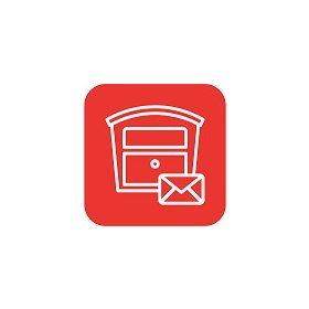 Acéllemez postaláda