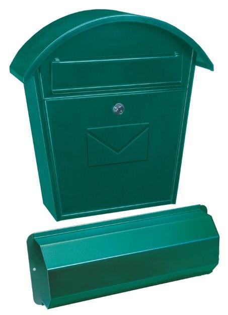 Image of Aosta Set újságtartóval zöld postaláda